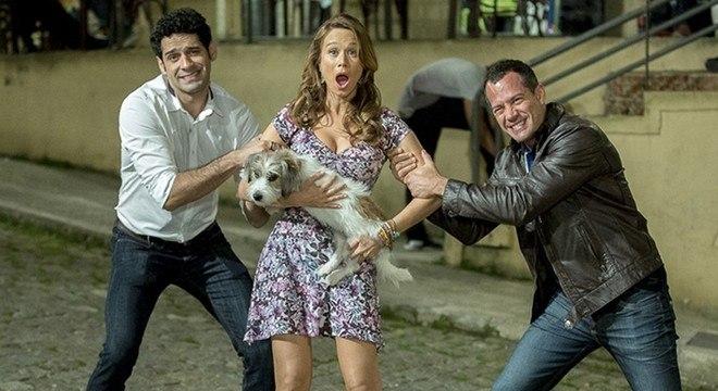 """João Baldasserini, Mariana Ximenes e  Malvino Salvador, do elenco de """"Haja Coração"""""""