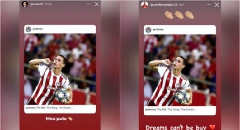 João Cancelo e Bruno Fernandes - Instagram