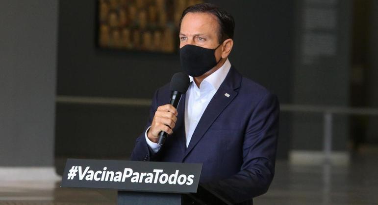 João Doria recebeu do Ministério Público pedido para paralisar o futebol em São Paulo