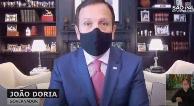 Com covid-19, João Doria participa de coletiva de imprensa por vídeo