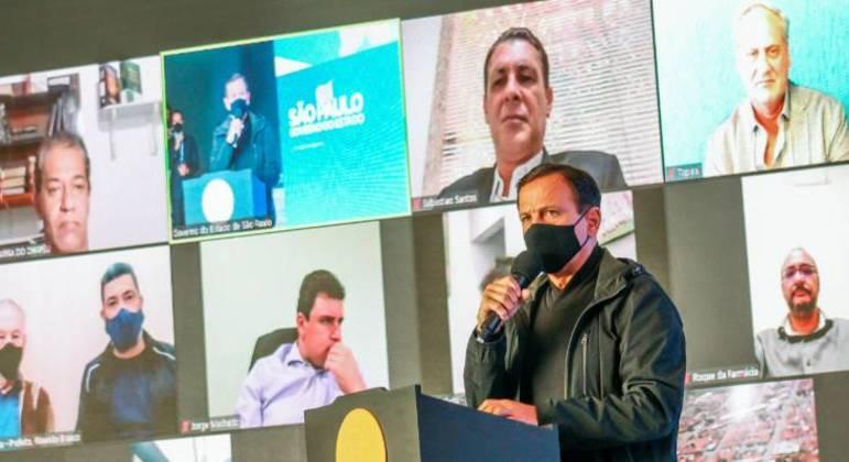 João Doria anunciou nesta segunda (10) um investimento de R$ 36 milhões em equipamentos esportivos