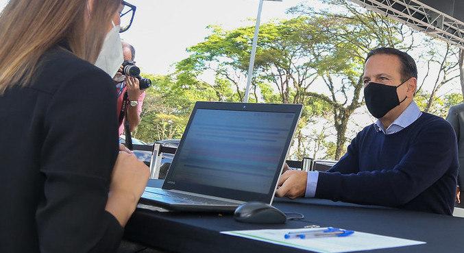 Doria (PSDB) participa de teste rápido para covid-19 no Palácio dos Bandeirantes