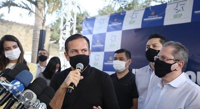 Doria inaugurou hospital de campanha na Grande SP, nesta quarta-feira (21)