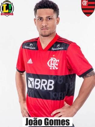 JOÃO GOMES - 7,5 - O melhor jogador da base do Flamengo no Carioca foi coroado com o seu primeiro gol pelos profissionais. E logo o terceiro, no 3 a 1, para dar os números finais da decisão. A joia estava iluminada!