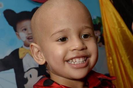 João Lucas durante o tratamento de quimioterapia
