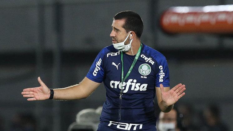 João Martins: técnico interino enquanto Abel Ferreira estava com Covid-19