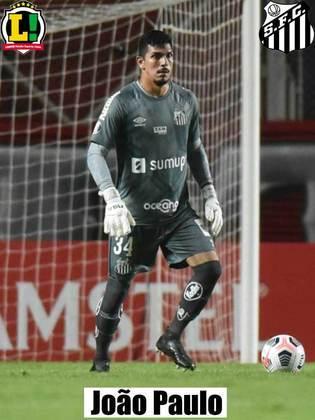 João Paulo - 5,0 - Podia sair um pouco mais do gol para ajudar nas bolas paradas, especialmente no primeiro gol, já que a cobrança de falta foi de muito longe.