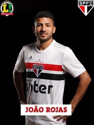 Joao Rojas - 7,0 - Perto do fim de seu contrato, Rojas colocou uma dúvida na diretoria Tricolor, já que fez ótimo jogo. Acertou a trave em lindo chute e também perdeu chance incrível de cabeça no primeiro tempo. No segundo tempo, calibrou o pé e acertou bonito chute de fora da área, fazendo o segundo do São Paulo na partida.