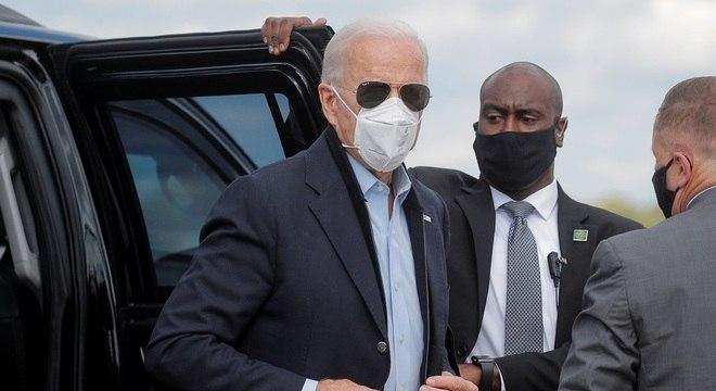 Joe Biden realizou teste antes de viajar para Pensilvânia