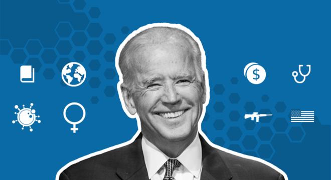 """Quando anunciou formalmente sua entrada na corrida presidencial de 2020, Joe Biden ‐ eleito neste sábado (07/11) presidente dos EUA ‐ afirmou que defendia duas coisas: os trabalhadores que """"construíram este país"""" e valores que possam superar divisões pessoais"""