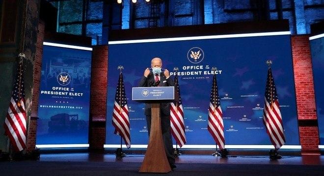 Biden afirmou que pretende fazer a maior parte da posse com eventos online