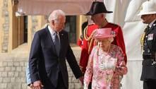 Rainha Elizabeth 2ª recebe Biden e esposa no Castelo de Windsor