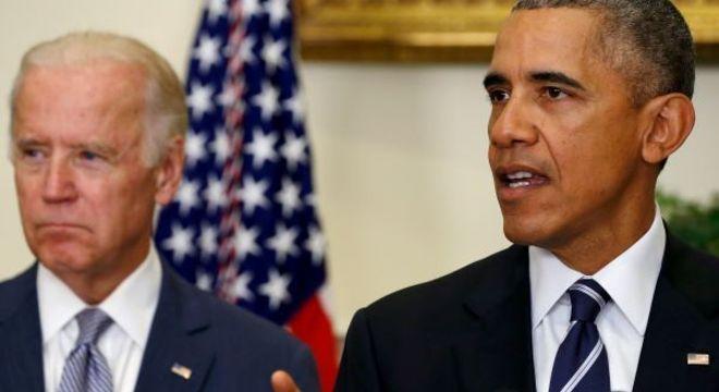 Joe Biden e Barack Obama na Casa Branca em novembro de 2015