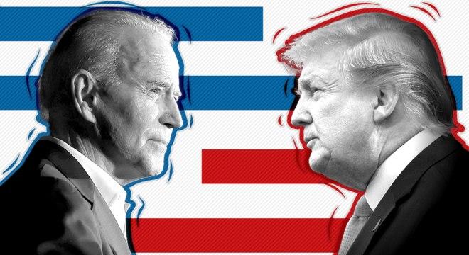 Joe Biden e Donald Trump - eleições nos EUA 2020