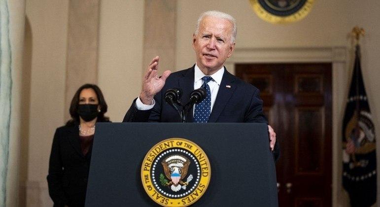 Biden fez um pronunciamento na Casa Branca após o veredicto ser anunciado