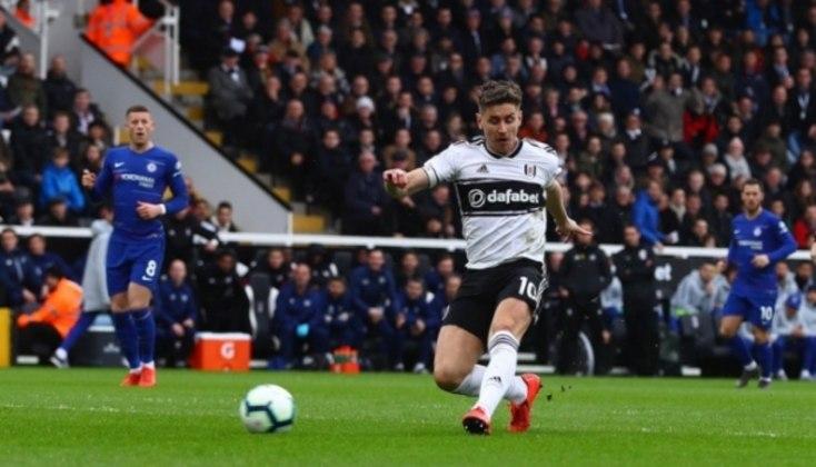 Joe Bryan em ação pelo Fulham