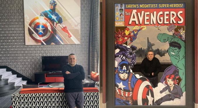 Joe Russo se divertiu no hotel que é inteiramente dedicado à Marvel