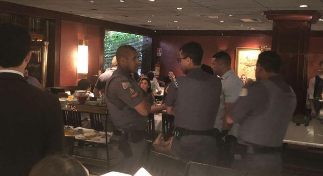 Polícia Militar foi a restaurante depois de confusão com Joesley Batista