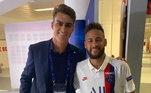 Claro que aproveitou para tietar Neymar...