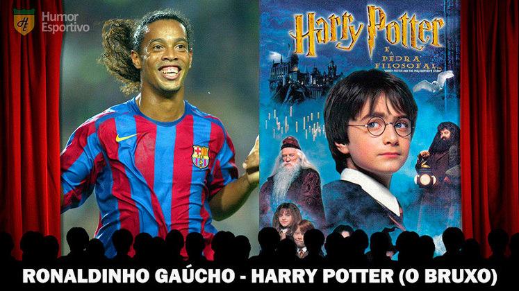 Jogadores e filmes: Ronaldinho Gaúcho é o bruxinho Harry Potter