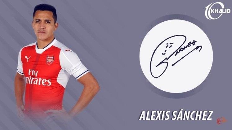 Jogadores e seus respectivos autógrafos: Alexis Sánchez