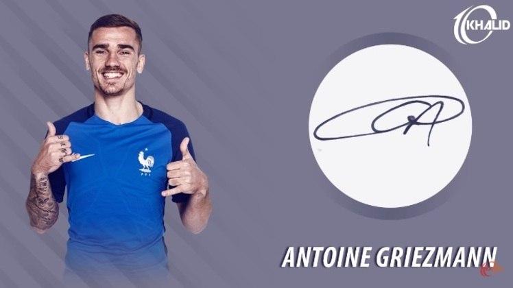 Jogadores e seus respectivos autógrafos: Antoine Griezmann