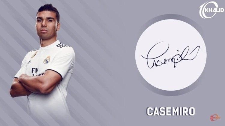 Jogadores e seus respectivos autógrafos: Casemiro
