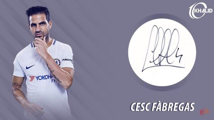 Jogadores e seus respectivos autógrafos: Césc Fàbregas