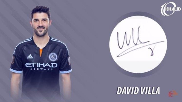 Jogadores e seus respectivos autógrafos: David Villa