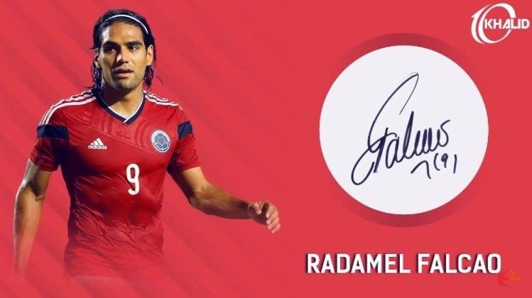 Jogadores e seus respectivos autógrafos: Falcao Garcia