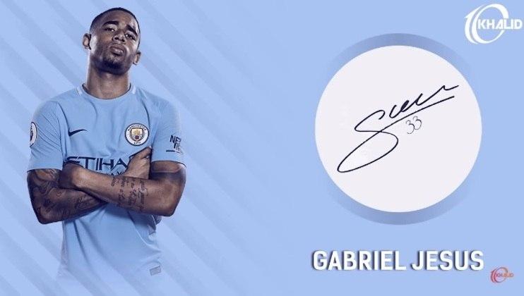 Jogadores e seus respectivos autógrafos: Gabriel Jesus