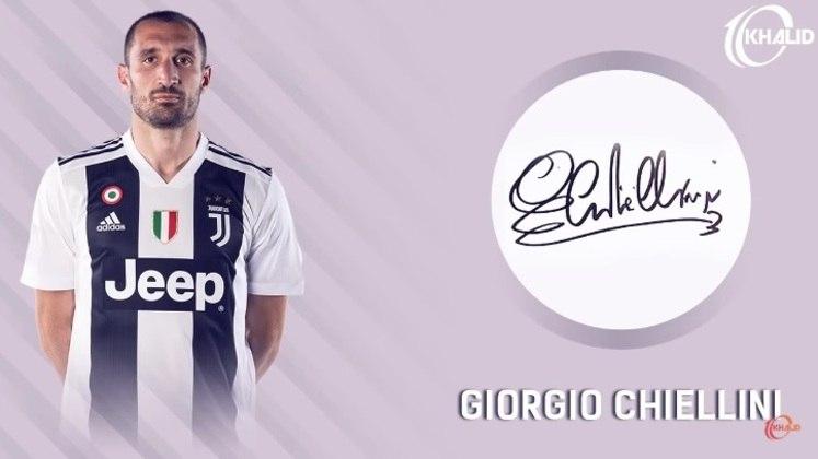 Jogadores e seus respectivos autógrafos: Giorgio Chiellini