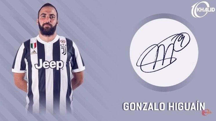 Jogadores e seus respectivos autógrafos: Gonzalo Higuaín
