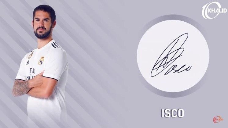 Jogadores e seus respectivos autógrafos: Isco