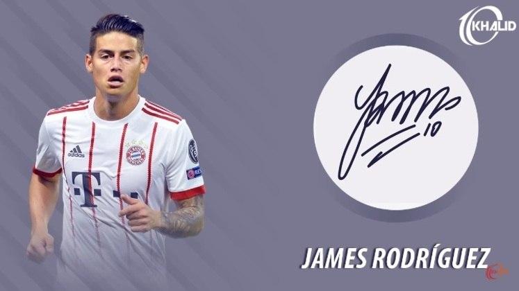 Jogadores e seus respectivos autógrafos: James Rodríguez