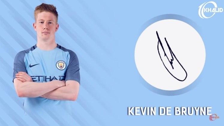 Jogadores e seus respectivos autógrafos: Kevin De Bruyne