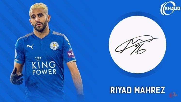 Jogadores e seus respectivos autógrafos: Mahrez