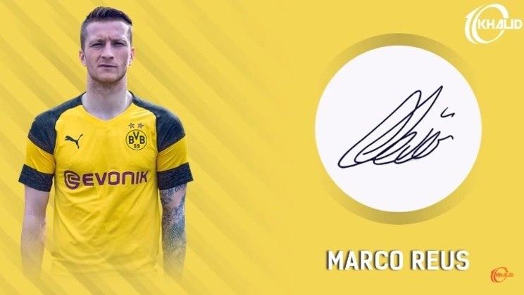 Jogadores e seus respectivos autógrafos: Marco Reus