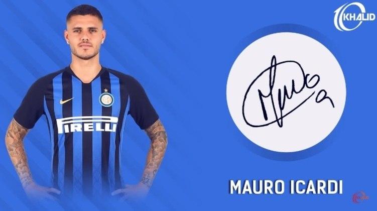 Jogadores e seus respectivos autógrafos: Mauro Icardi