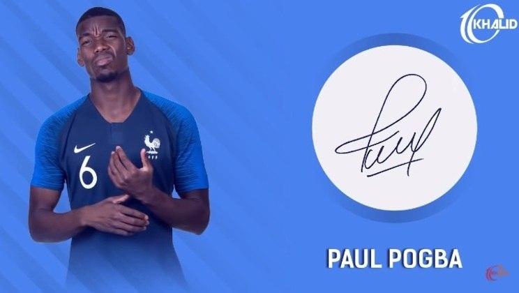 Jogadores e seus respectivos autógrafos: Paul Pogba