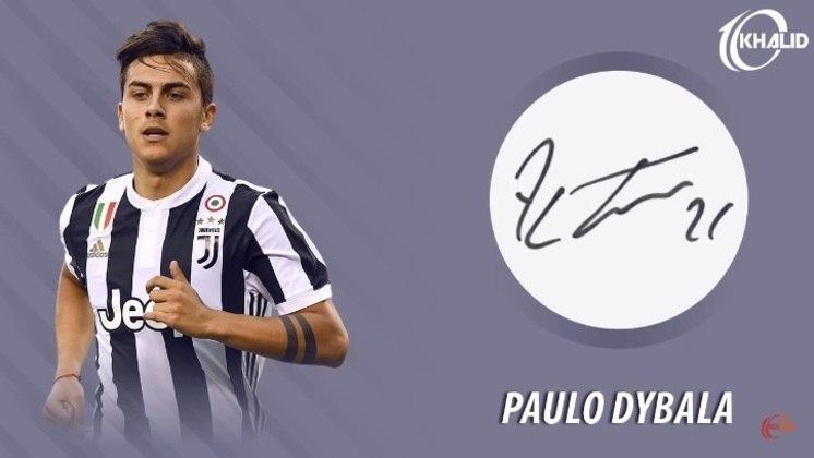 Jogadores e seus respectivos autógrafos: Paulo Dybala