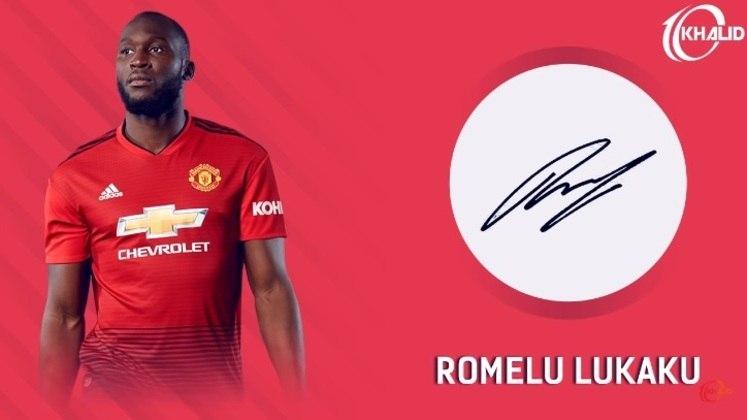 Jogadores e seus respectivos autógrafos: Romelu Lukaku