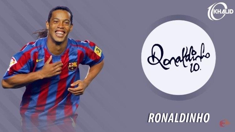 Jogadores e seus respectivos autógrafos: Ronaldinho Gaúcho