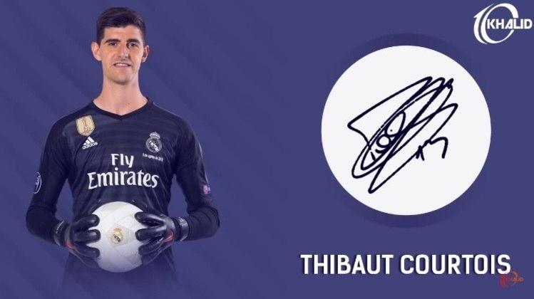 Jogadores e seus respectivos autógrafos: Thibaut Courtois