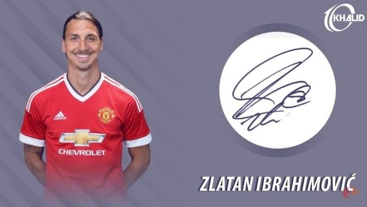 Jogadores e seus respectivos autógrafos: Zlatan Ibrahimovic