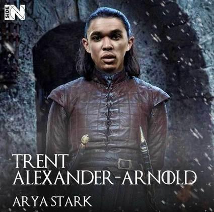 Jogadores e técnicos viram personagens de GoT: Alexander-Arnold