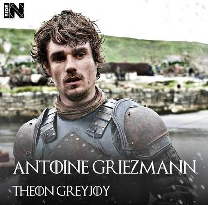 Jogadores e técnicos viram personagens de GoT: Antoine Griezmann