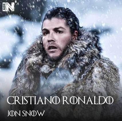 Jogadores e técnicos viram personagens de GoT: Cristiano Ronaldo