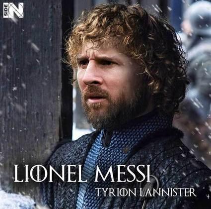 Jogadores e técnicos viram personagens de GoT: Lionel Messi
