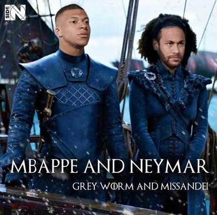 Jogadores e técnicos viram personagens de GoT: Mbappé e Neymar
